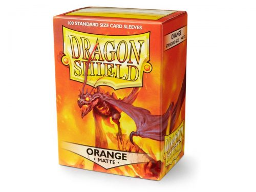 Dragon Shield 100 Matte Orange Card Sleeves