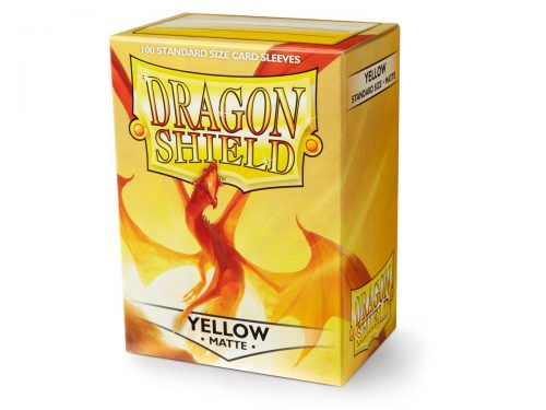 Dragon Shield 100 Matte Yellow Card Sleeves