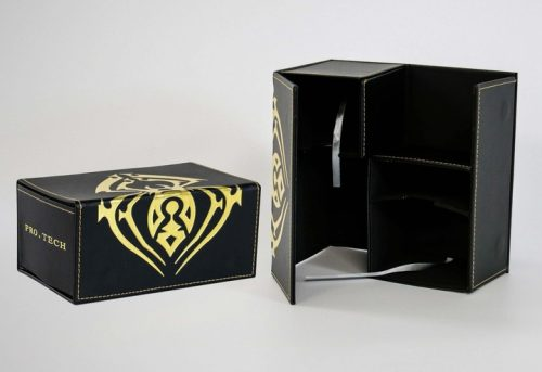 Pro Tech Double Magnetic Flip Deck Box Gold Spider