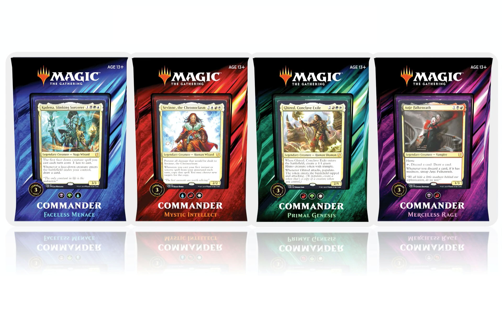 Magic The Gathering: 2019 Commander Decks - Set of 4